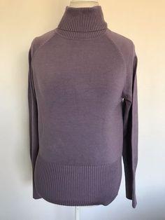 dffdc638fa INC International Concepts NWT Turtleneck Sweater purple %80 Silk Size XL  1025  INCInternationalConcepts