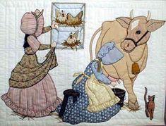 Лоскутное шитье и аппликация. Журнал Bonnet Girls (19) (306x233, 107Kb)
