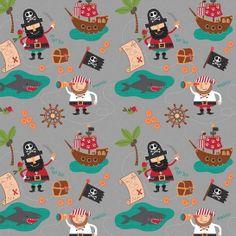 Blackbeards Pirates by Riley Blake - La Mercerie de l'Étoile de Coton