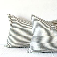 Jill Bent Handmade & Vintage || Vintage Ticking Pillow