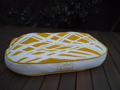 Funky yellow dog bed! #dog, #dogbed