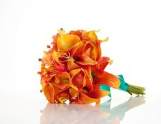 Calla and tiger lily bouquet