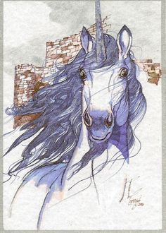 Unicorn ACEO Card Limited Edition ART by Rushing by biggirl4664