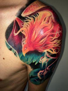 My brand new phoenix tattoo, done by Phuong Ronin at Tats Studio (Hanoi, Vietnam)! - Album on Imgur