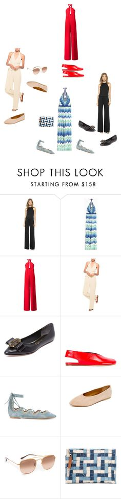 """Halter Jumpsuits..**"" by yagna ❤ liked on Polyvore featuring Lanston, Missoni, Misha Nonoo, Joanna August, Marc Jacobs, Isabel Marant, Coclico, Ray-Ban, Loewe and vintage"
