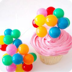 12 Party Balloon Cupcake Picks by SweetKaity on Etsy, $15.00