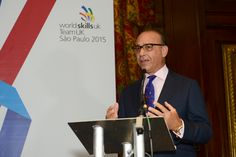 Theo Paphitis speaks at the Team UK send off