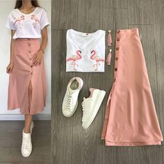 korean terno top and skirt. Specifications of korean terno top and sk Mode Outfits, Skirt Outfits, Trendy Outfits, Summer Outfits, Hijab Fashion, Korean Fashion, Fashion Dresses, Types Of Dresses, Classy Dress