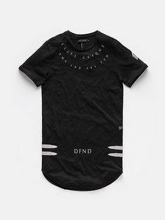 long-fit t-shirt black Cool Shirt Designs, New T Shirt Design, Shirt Print Design, Cool Shirts, Tee Shirts, Graphic Tee Outfits, Boys Clothes Style, Casual Wear For Men, Quality T Shirts