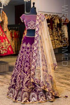 Deep Purple Bridal Wedding And Party Wear Designer Lehenga Choli - Indian Fashion - Wedding Indian Wedding Lehenga, Pakistani Party Wear, Indian Wedding Outfits, Bridal Lehenga, Indian Bridal, Indian Outfits, Indian Clothes, Indian Lengha, Punjabi Wedding