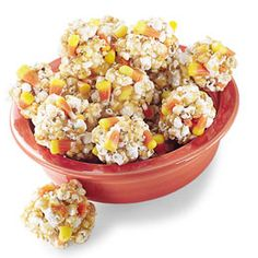 Candy Corn Balls treat- good for fall festival snack?