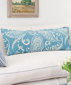 body pillow cover with a flange edge