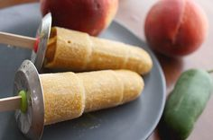 Peach Popsicles with (or without!) Jalapeño