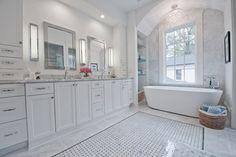 Atlanta, GA - New Neoclassical Home - transitional - Bathroom - Atlanta - Heirloom Design Build