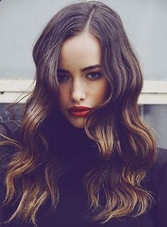 Brunette hair with soft highlights | Balayage hair