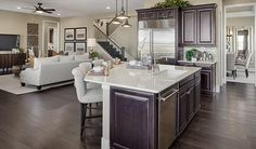 Caesarstone Wild Rice 4360 With Ogee Edge Large Island With White Cabinets And Antique Cabinet