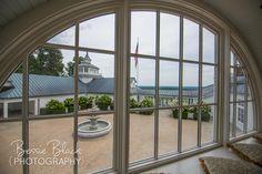 Trump Winery, Grand Hall - Balcony window overlooking the Courtyard Bessie Black Photography BessieBlack.com