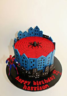 Spiderman Cake Ideas for Little Super Heroes - Novelty Birthday Cakes Spiderman Cake Topper, Spiderman Birthday Cake, Batman Cakes, Superhero Cake, Novelty Birthday Cakes, Novelty Cakes, Slab Cake, Avenger Cake, Cakes For Boys
