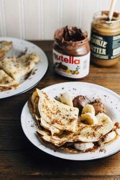 pancakes + nutella + banana.