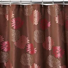 Zenna Home 1961908381 Mariana Fabric Shower Curtain Brown >>> Click image to review more details.