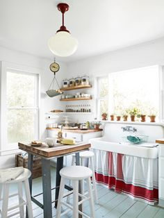 LOVE this kitchen... Especially the sink!
