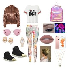 """Years&years concert"" by chelsea-dyer on Polyvore featuring Uniqlo, adidas Originals, Topshop, Mi-Pac, adidas, Oliver Peoples, Carolee and Lime Crime"