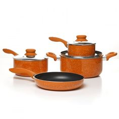 Simplemente Delicioso Casa Balboa 7-Piece Cookware Set, Orange ** Details can be found by clicking on the image.