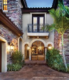 more courtyard entry european homes home plans courtyards home design Tuscan Courtyard, Courtyard Entry, Courtyard House Plans, Small Luxury Homes, Modern Homes, Custom Home Plans, Mediterranean Style Homes, Mediterranean Architecture, House Front Design