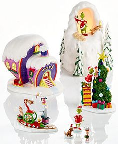 Department 56 Grinch Village Collectible Figurine Collection - - Macy's