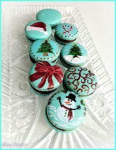 Macarons de Noël / Christmas macarons #christmasmacaroons #christmasmacarons
