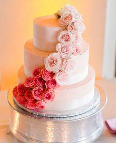 Ombre Wedding Cake | Sara Richardson Photography | blog.theknot.com