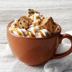 Our bittersweet chocolate flavored syrup mixed with foamed milk and topped with whipped cream, chocolate chip marshmallows and drizzled with salted caramel sauce.- Visit PaneraBread.com for more inspiration.