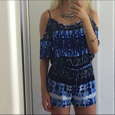"""Boho romper New with tags. No flaws.                                                 - Waist to hem: 10.5""""                                                     - Inseam: 2"""" - Waist: 24"""" - Chest: 32"""" Pants Jumpsuits & Rompers"""