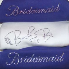 PURPLE Wedding theme Matron of Honor Bridesmaid Bride To Be Crystal Rhinestone Tank Shirt PACKAGES AVAILABLE Bridal Party Gift Ideas. $15.00, via Etsy.
