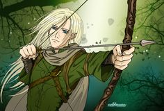 Legolas at Mirkwood by ~Neldorwen