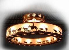 Image detail for -Western Chandelier, Cowboy Chandelier, Western Lighting, Rustic ...