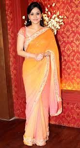 #Sumona #Chakravarti known as #Natasha from serial #Bade ache lagtey hai in #sari #saree