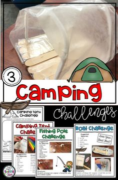 STEM Camping Challenges are three STEM activities that your students will love while exploring the theme of camping. Students will design, construct, engineer, and construct boats, tents, and fishing poles.  Your students will love designing, creating, and engineering. Students will problem solve and think critically as they complete their challenges.
