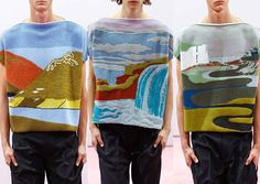 London Menswear Print Highlights – Spring/Summer 2015 catwalks hn Allen Carpets – Landscape Scenes – Lo-fi Crafted Looks – Mid Tone Statements- Atmospheric Art Look