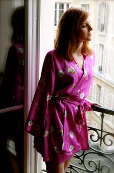 Kimono Robe Pattern - French Seams Finishing Included - PDF Pattern And Tutorial