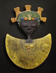 Etiyé Dimma Poulsen, Sun & Moon Entity, 2017, ceramic