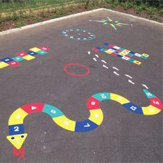 Painted Playground Games Playground Markings Traditional - Playground stencils