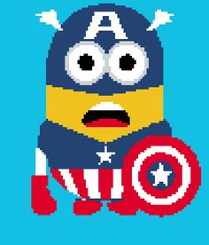 Looking for your next project? You're going to love Captain America Minion Graph by designer Celina86.