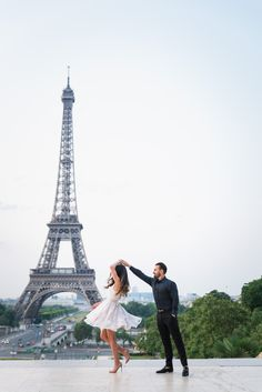 You know you're in LOVE when you can't fall asleep because reality is finally better than your dreams… #parisphotographer #parisengagement #eiffeltower  www.theparisphotographer.com