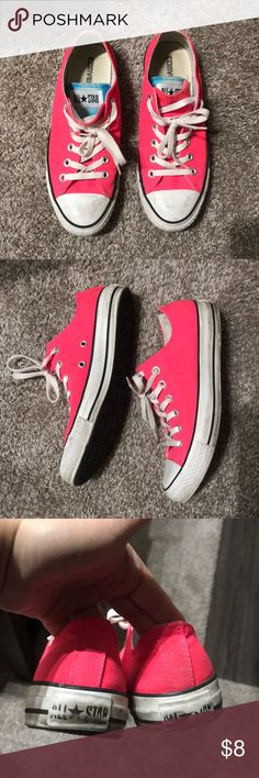ea43e0d56bd6 Double tongued Converse Neon pink blue sz 6 8 Double tongued Converse Neon  pink blue sz m6 w 8 Converse Shoes Sneakers