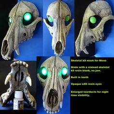 Mono's Halloween Mask by DreamVisionCreations on DeviantArt Halloween Skull, Halloween Masks, Scary Halloween, Larp, Cosplay Outfits, Cosplay Costumes, Wendigo Costume, Crane, Dinosaur Mask