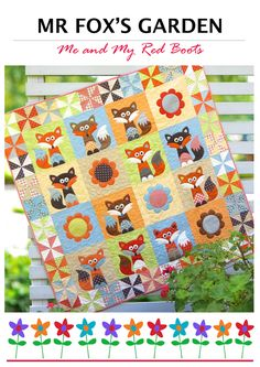Looking for your next project? You're going to love Mr Fox's Garden - Fox Quilt Pattern by designer My Red Boots. - via @Craftsy