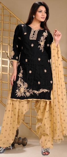 #Black Readymade Crush #Cotton #Salwar Suit @ $38.46 | Shop @ http://www.utsavfashion.com/store/sarees-large.aspx?icode=kgf3678a