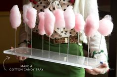 Make your own Cotton Candy stand (or cake pop stand)