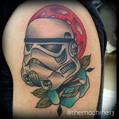 Traditional Starwars stormtrooper tattoo by Zack Taylor at Evermore Tattoo Company in Los Angeles, CA